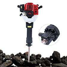 Concrete Breaker,52CC 2 Stroke Handheld Rock Drill Breaker Concrete Breaker Gas Demolition Jack Hammer With 2 Drill 1900W US