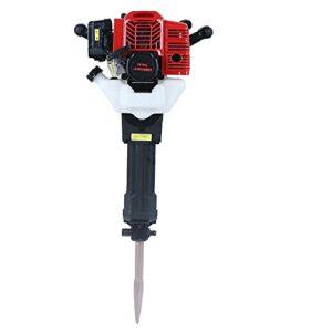 DNYSYSJ 52CC Gas Concrete Breaker, Portable 2 Stroke Gasoline Demolition Jack Hammer Drills with Convenient Handle Punching Drill Chisels Kit Sharp Flat Breaker 1500bpm