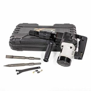 XtremepowerUS Demolition Electric Hammer Jack Hammer Handle 1000W Concrete Breaker Flat and Point Chisel Bits with Case (Renewed)