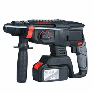 21V Brushless Heavy Duty 4 Function Rotary Hammer Drill 1 Inch SDS-Plus Adjustabl Grip Handle 980 RPM Cordless Drill Demolition Kit with One 4.0Ah Battery and Carry Box US Plug