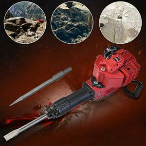 52CC Gas Powered Demolition Motor Concrete Breaker Drill Jack Hammer Heavy-Duty