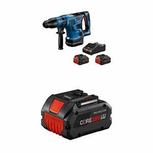Bosch PROFACTOR 18V HITMAN GBH18V-36CK24 Cordless SDS-max 1-9/16 In. Rotary Hammer Kit, Includes (2) CORE18V 8.0 Ah Performance Batteries + Bosch GBA18V80 CORE18V 8.0 Ah Performance Battery