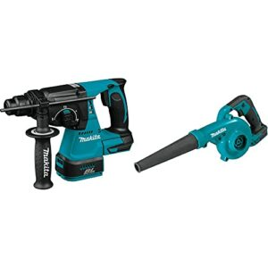 Makita XRH01Z 18V LXT Lithium-Ion Brushless Cordless 1″ Rotary Hammer, accepts SDS-PLUS bits, Tool Only with XBU05Z 18V LXT Lithium-Ion Cordless Blower, Tool Only