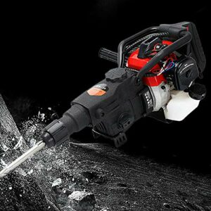 SD&ZC Gas Demolition Concrete Breaker Punch Drill Jack Hammer with Chisel 32.7CC 2 Stroke