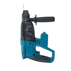 WGang 18V 10000Bpm Electric Hammer Impact Drill Rechargeable, Brushless Cordless Rotary Hammer Drill 4 Function