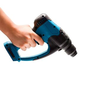 WGang Rechargeable Brushless Cordless Rotary Hammer,18V 4 Modes Drill Electric Hammer Impact Drill High Power