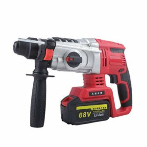 DNYSYSJ 4 In 1 Cordless Brushless Hammer Drill Kit, 800W Electric Rotary Demolition Hammer Concrete Breaker Punching Tools with 2 Battery 3200 Rpm
