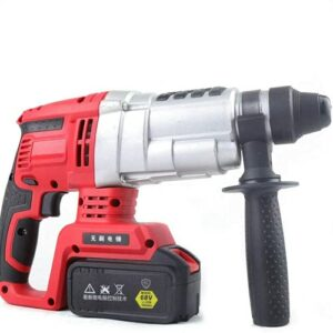 TADYL 68V Cordless Brushless Hammer Electric Rotary Demolition Jack Hammer Concrete Breaker Punch Drill Driver Chuck Impact Set Fit for Home Improvement with 2 Battery